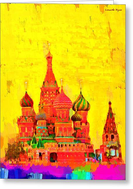 Saint Basil Cathedral - Da Greeting Card