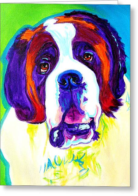 Alicia Vannoy Call Paintings Greeting Cards - Saint Bernard -  Greeting Card by Alicia VanNoy Call