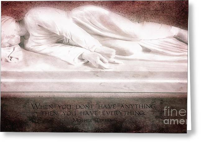 Saint Cecilia Greeting Card by Nancy Forehand Photography