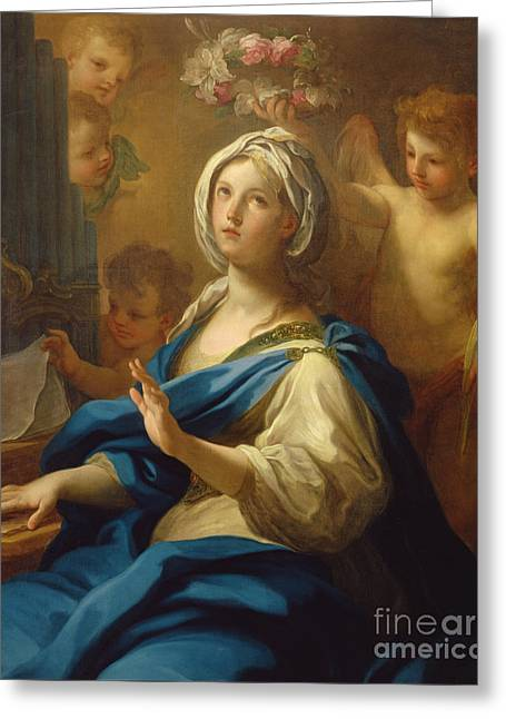 Saint Cecilia Greeting Card by Sebastiano Conca