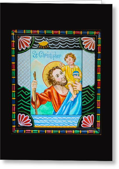 Saint Christopher Greeting Card by Jan Mecklenburg