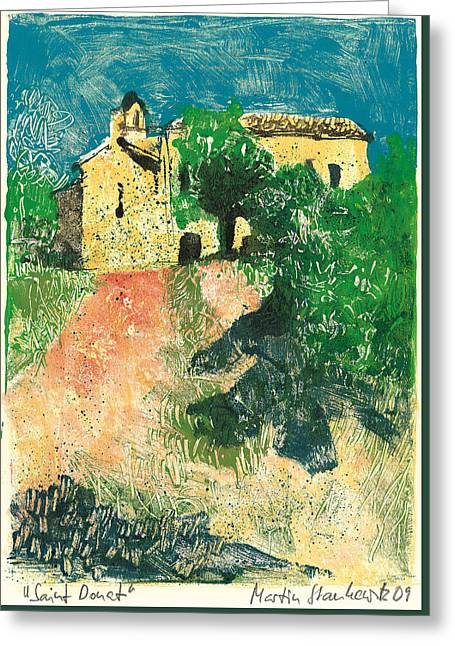 Greeting Card featuring the painting Saint Donat Provence by Martin Stankewitz
