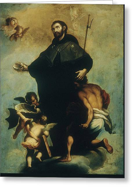 Saint Francis Xavier Greeting Card by Miguel Cabrera
