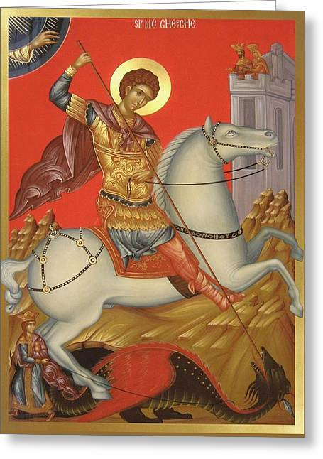 Saint George Greeting Card by Daniel Neculae