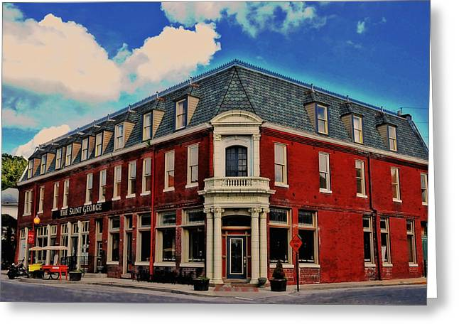 Saint George Hotel In Weston Mo Greeting Card by Lyle  Huisken