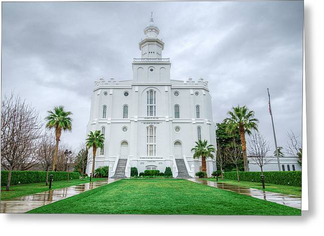 Saint George Temple Greeting Card