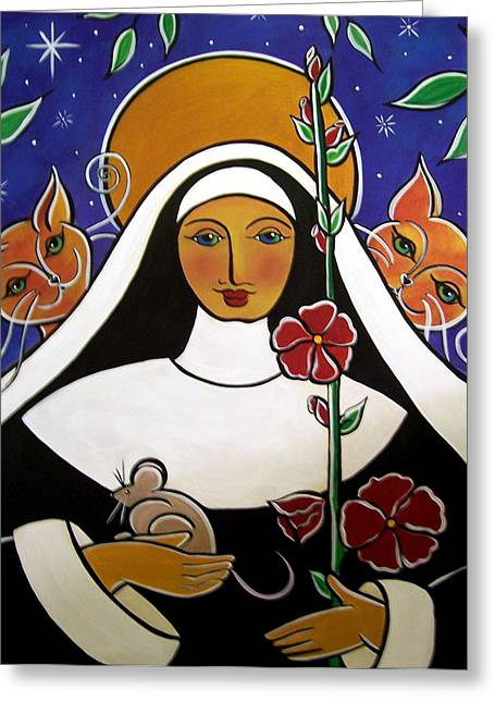 Saint Gertrude Of Nivelles Greeting Card