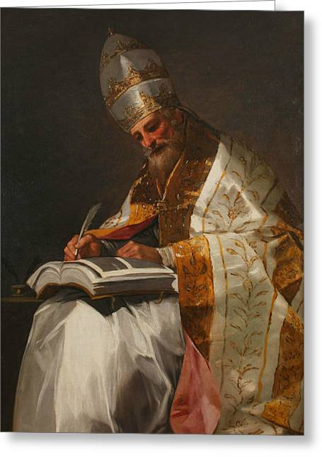 Saint Gregory The Great, Pope Greeting Card