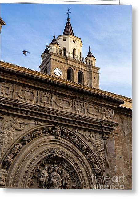 Greeting Card featuring the photograph Saint Hieronymus Facade Of Calahorra Cathedral by RicardMN Photography