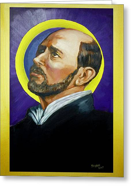 Saint Ignatius Loyola Greeting Card
