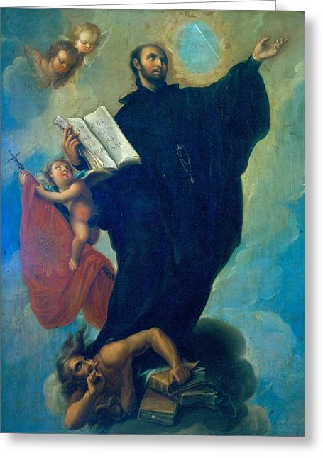 Saint Ignatius Loyola Greeting Card by Miguel Cabrera