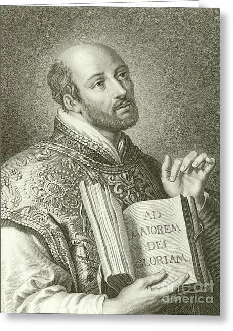 Saint Ignatius Of Loyola Greeting Card by English School