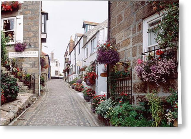 Saint Ives Street Scene, Cornwall Greeting Card by Panoramic Images