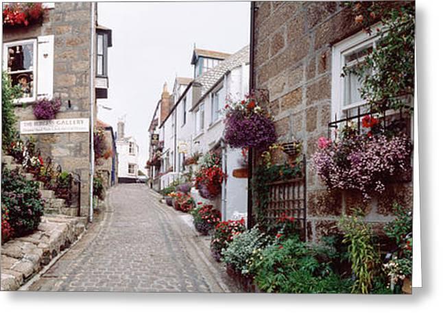 Saint Ives Street Scene, Cornwall Greeting Card