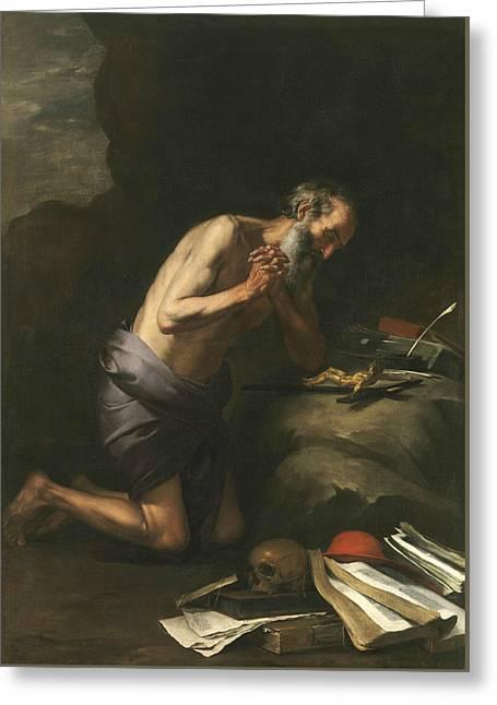 Saint Jerome  Greeting Card by Bartolome Esteban Murillo