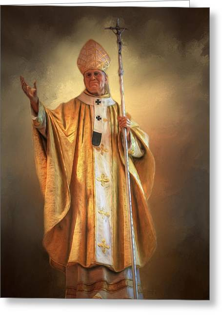 Greeting Card featuring the photograph Saint John Paul The Second by Donna Kennedy
