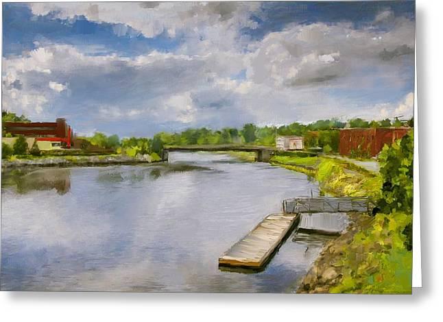 Saint John River Painting Greeting Card