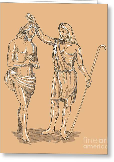 Saint John The Baptist Greeting Card by Aloysius Patrimonio