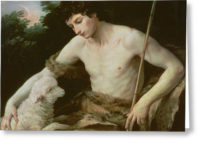 Saint John The Baptist In The Wilderness Greeting Card by Guido Reni