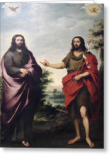 Saint John The Baptist Pointing To Christ Chicago Art Institute Greeting Card by Thomas Woolworth