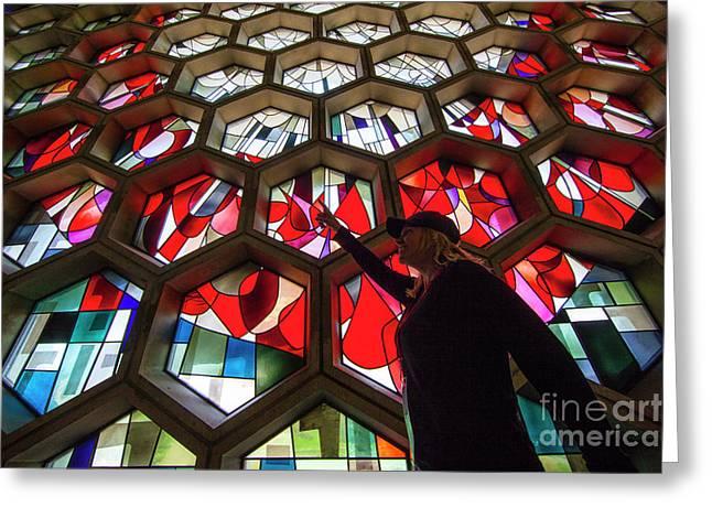 Saint John's University Abbey Amazing Stained Glass Greeting Card