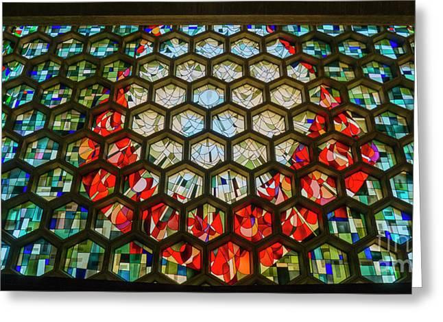 Saint John's University Abbey Stained Glass Magic Greeting Card