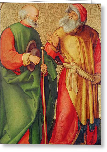 Saint Joseph And Saint Joachim Greeting Card