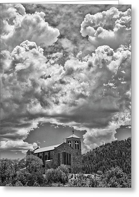 Saint Joseph Apache Mission, Mescalero, New Mexico, June 10, 201 Greeting Card by Mark Goebel