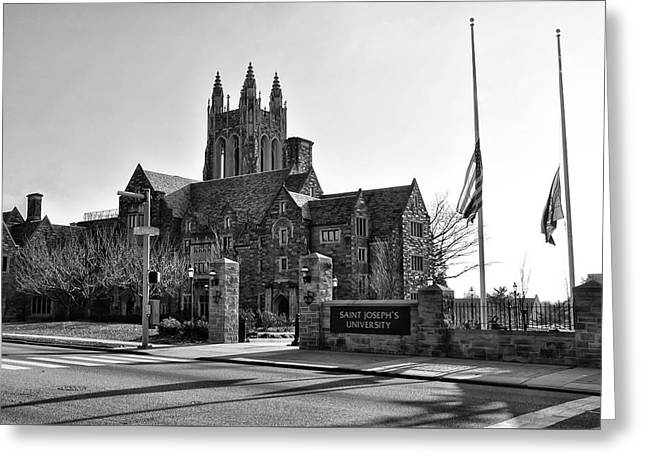 Saint Josephs - Philadelphia Pennsylvania In Black And White Greeting Card by Bill Cannon