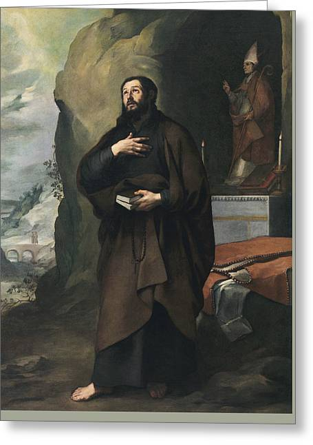 Saint Lesmes  Greeting Card by Bartolome Esteban Murillo