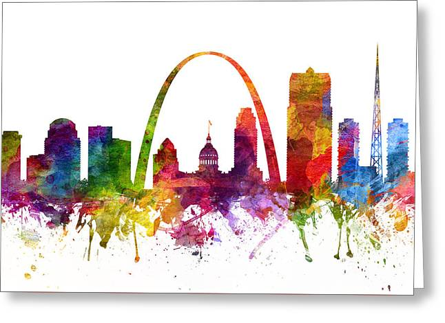 Saint Louis Cityscape 06 Greeting Card by Aged Pixel