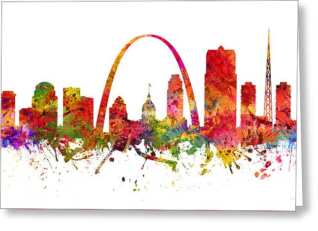 Saint Louis Cityscape 08 Greeting Card by Aged Pixel
