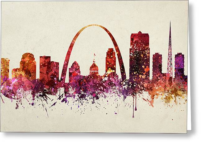 Saint Louis Cityscape 09 Greeting Card by Aged Pixel