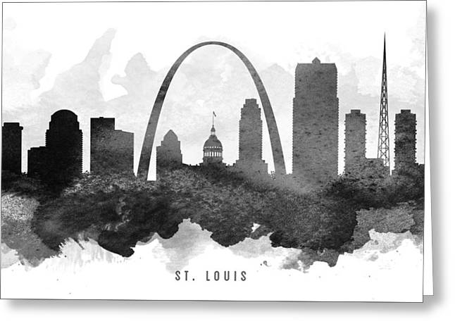 Saint Louis Cityscape 11 Greeting Card by Aged Pixel
