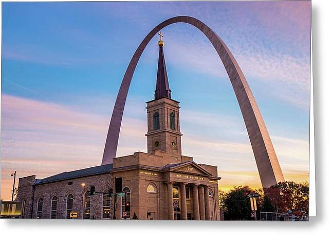 Saint Louis Icons - Downtown Saint Louis Missouri Greeting Card by Gregory Ballos