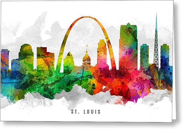 Saint Louis Missouri Cityscape 12 Greeting Card by Aged Pixel