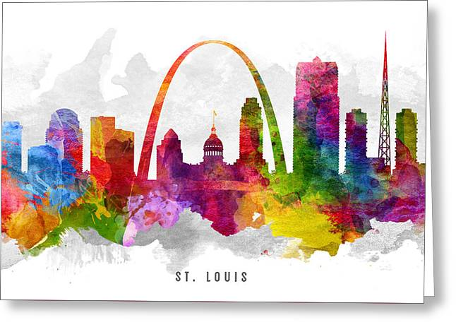 Saint Louis Missouri Cityscape 13 Greeting Card by Aged Pixel