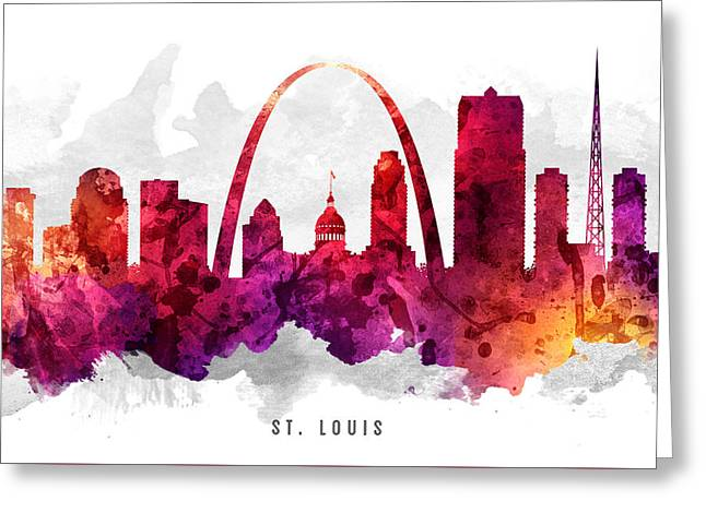 Saint Louis Missouri Cityscape 14 Greeting Card by Aged Pixel