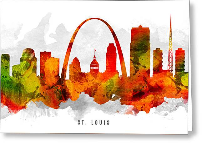 Saint Louis Missouri Cityscape 15 Greeting Card by Aged Pixel