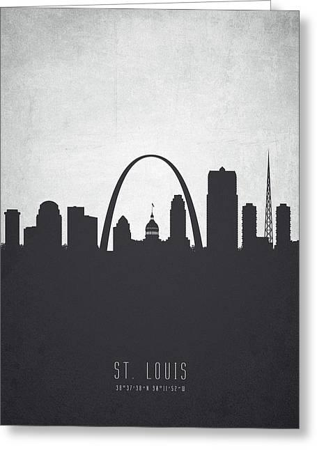 Saint Louis Missouri Cityscape 19 Greeting Card