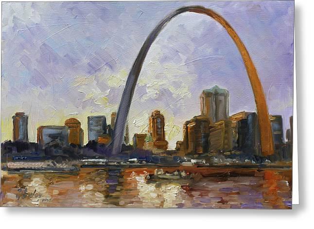 Saint Louis Skyline 3 Greeting Card