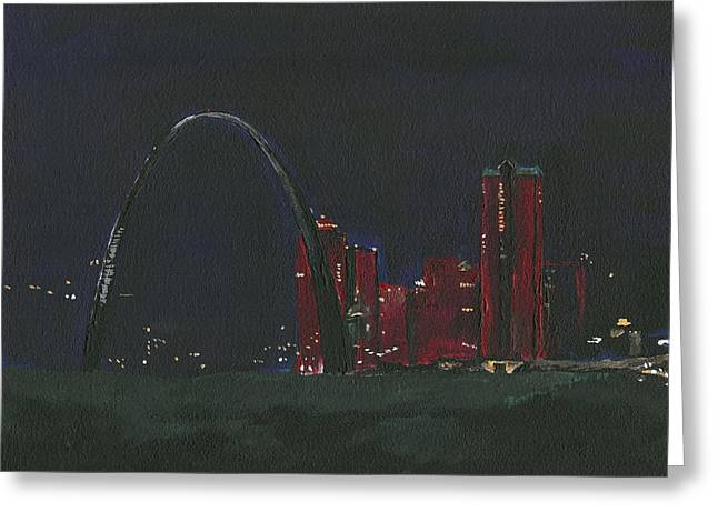 Saint Louis Skyline Greeting Card
