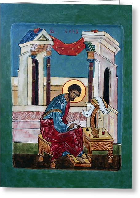 Saint Luke Greeting Card by Phillip Schwartz