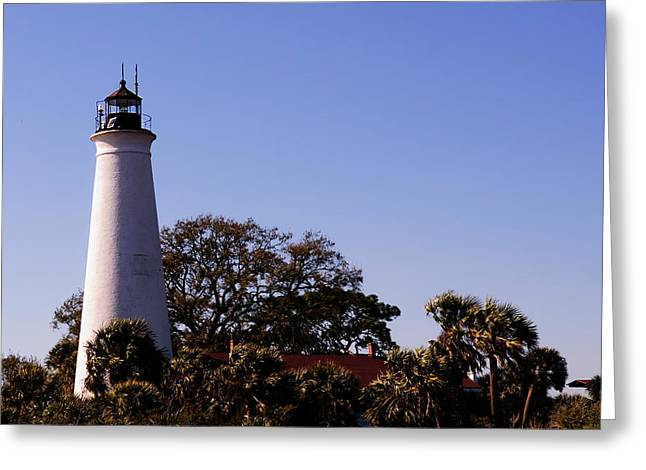 Saint Marks Light House Greeting Card by Frank Feliciano