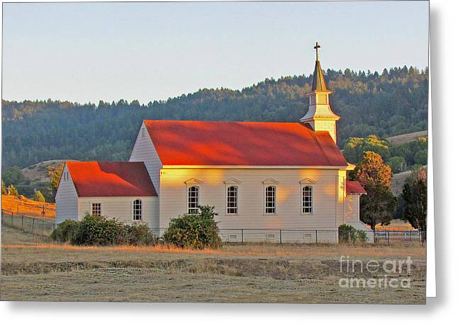 St. Mary's Church At Sunset Greeting Card