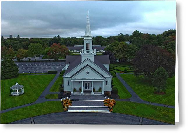 Saint Mary's Church From Above Greeting Card
