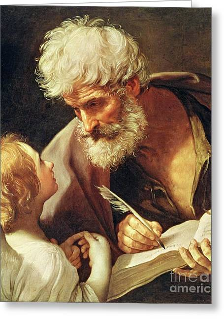 Saint Matthew Greeting Card by Guido Reni