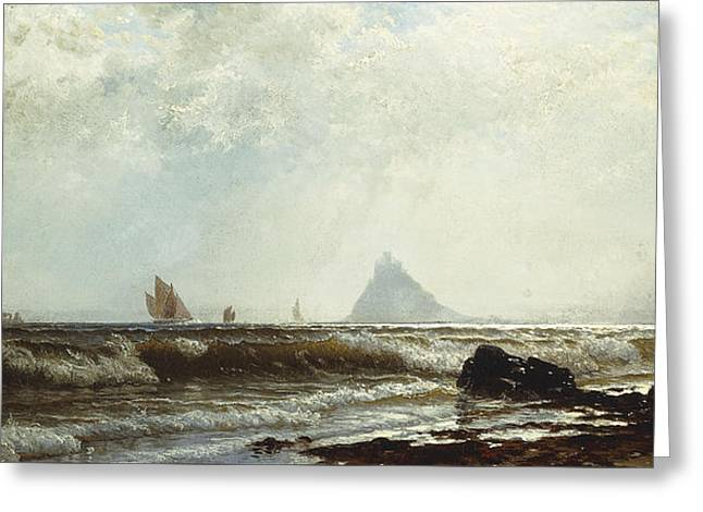 Saint Michael's Mount Greeting Card by Alfred Thompson Bricher