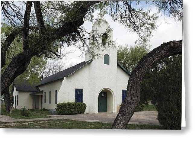 Saint Miguel Archangel Catholic Church In Little Los Ebanos Greeting Card by Carol M Highsmith
