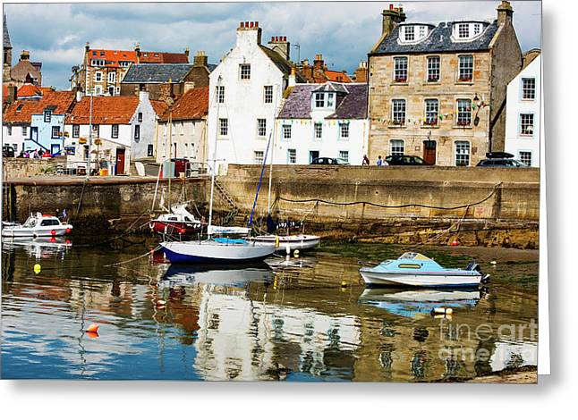Saint Monans Greeting Card by MaryJane Armstrong